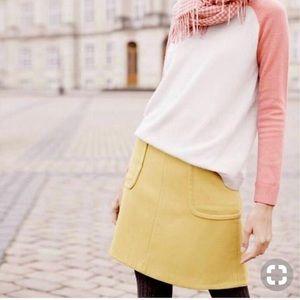 Boden | Julia Patch Pocket Wool Skirt Tan